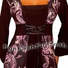 PH1 FUNFASH PLUS SIZE CORSET STYLE BLACK PURPLE WOMENS TOP SHIRT BLOUSE XL 1X 16