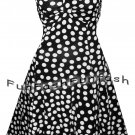 QT9 FUNFASH BLACK WHITE POLKA DOTS DRESS COCKTAIL CRUISE DRESS Size LARGE 9 11