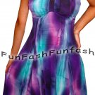 PX9 FUNFASH WOMENS PLUS SIZE DRESS SLIMMING EMPIRE WAIST COCKTAIL CRUISE L 9 11
