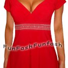 FF9 FUNFASH APPLE RED EMPIRE WAIST TOP SHIRT BLOUSE NEW WOMENS Size Large 9 11