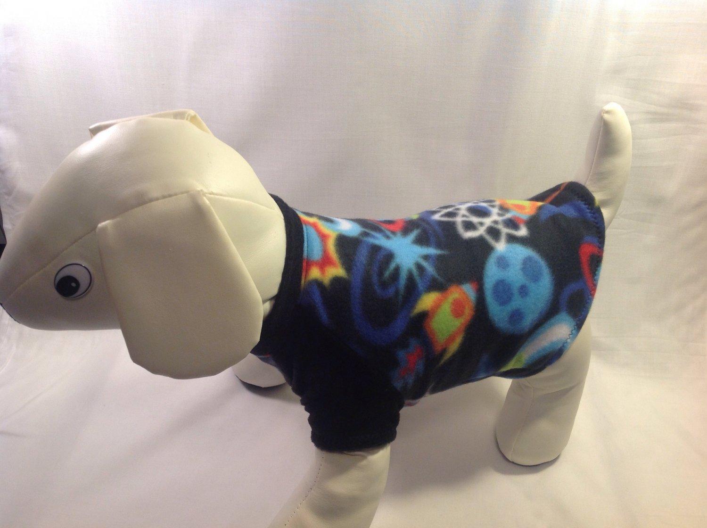 dog shirt X SMALL Brand New Handmade spaceship dog shirts fleece sweater sweatshirt puppy