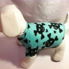 dog shirt X SMALL mint blue green with skulls dog shirts fleece sweater sweatshirt puppy