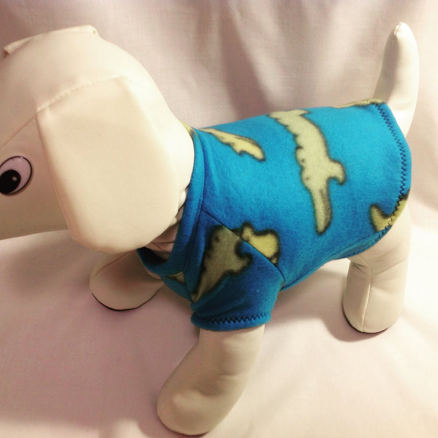 dog shirt SMALL blue turquoise dog shirts fleece sweater sweatshirt puppy