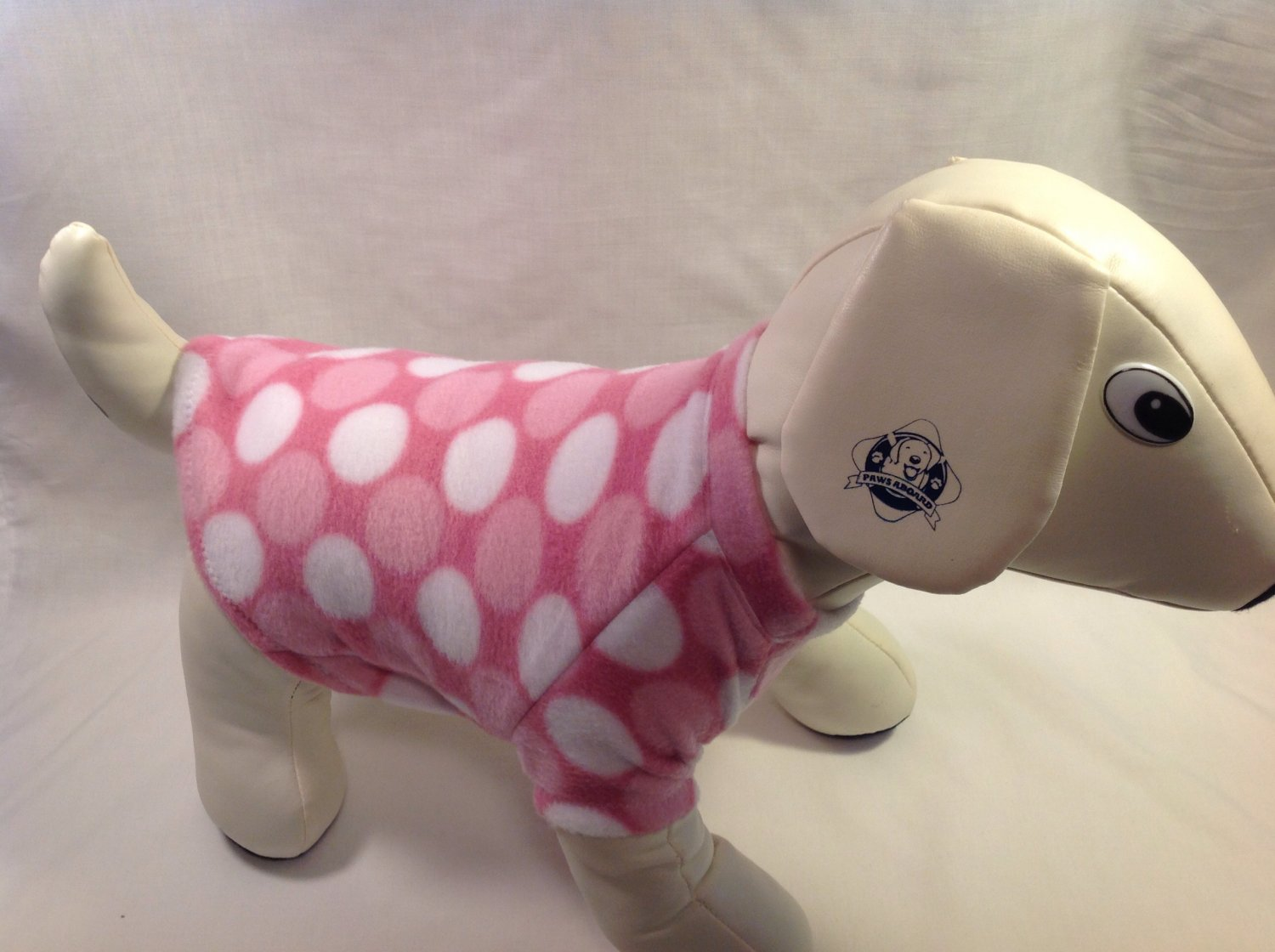 dog shirt SMALL pink dots dog shirts fleece sweater sweatshirt puppy