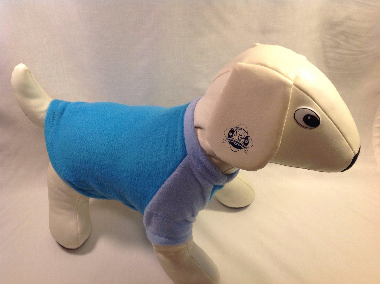 dog shirt SMALL blue dog shirts fleece sweater sweatshirt puppy