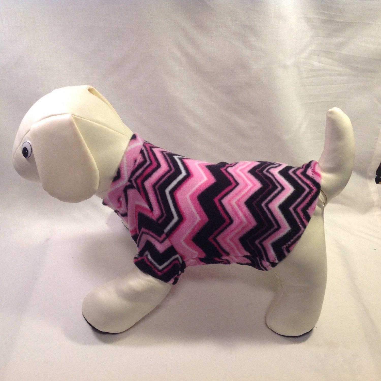 dog shirt SMALL pink chevron dog shirts fleece sweater sweatshirt puppy