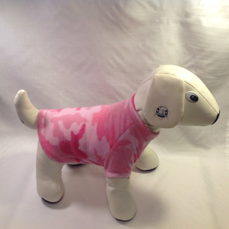dog shirt SMALL pink camo dog shirts fleece sweater sweatshirt puppy
