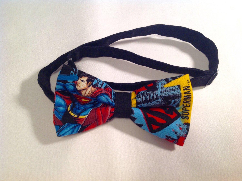 Bow tie men superman neckband cotton pretied superhero