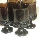 Vintage Tiffin Jamoca Madeira wine / beverage dark glasses 4 pcs