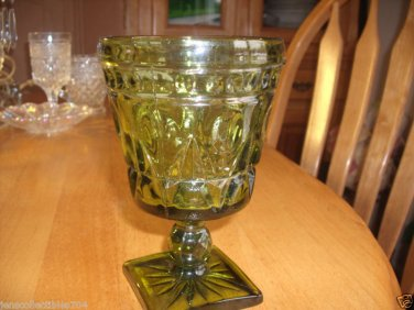 Vintage pair of INDIANA GLASS CO. Park Lane Cordial~WINE~SPIRITS GOBLETS GLASSES