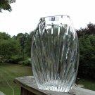 ORIGINAL 'Crystal Clear Industries' 24% hand cut Lead Crystal Vase Poland GLASS