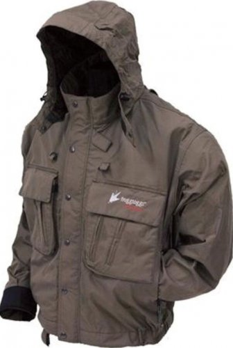 Frogg Toggs Hellbender Wading Fly Fishing Jacket Stone Color Size Small