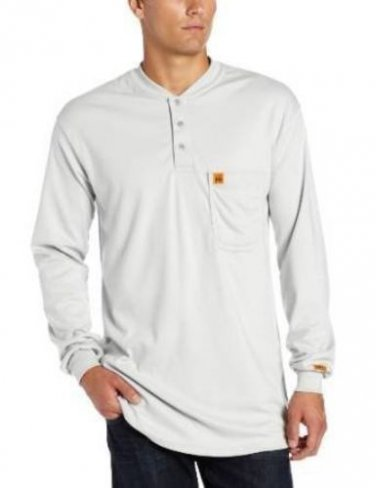 Wrangler Men's Fire Resiostent Grey Henley Size Medium [Misc.]