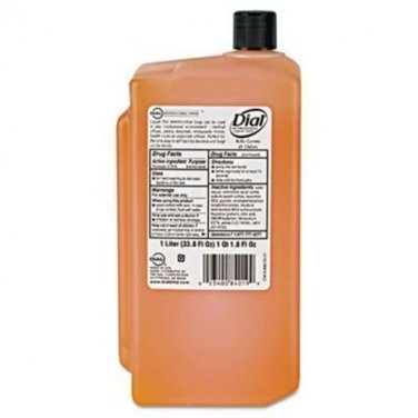 Dial Liquid Dial Gold Antimicrobial Hand Soap, 1 Liter Refill -- 8 per case.