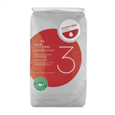 Seattle's Best Level 3 Decaf Ground Coffee, 12-Ounce Bags (Pack of 3) [Grocery]