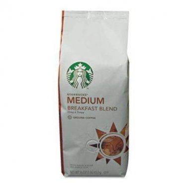Starbucks Breakfast Blend, Ground Coffee (1lb) [CD-ROM]