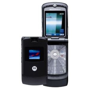 motorola v3 black razr razor cell phone unlocked new. Black Bedroom Furniture Sets. Home Design Ideas