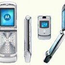 UNLOCKED MOTOROLA V3 Silver RAZR RAZOR GSM PHONE New