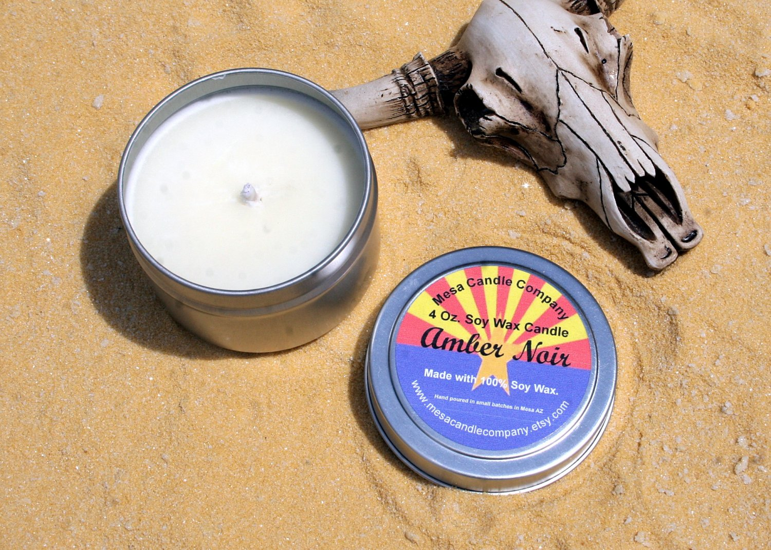 Amber Noir Scented 4 Oz. Soy Candle