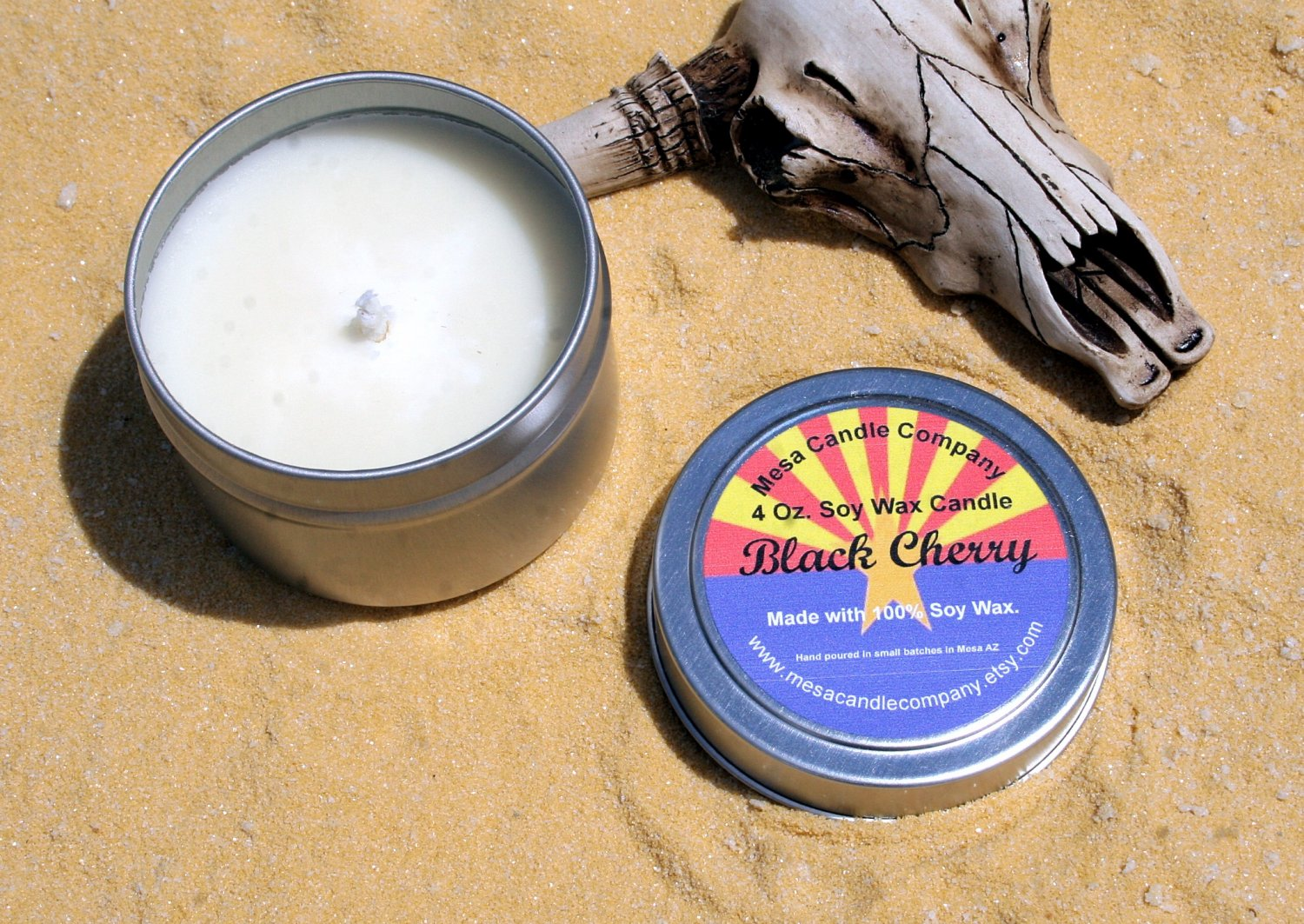 Black Cherry Scented 4 Oz. Soy Candle