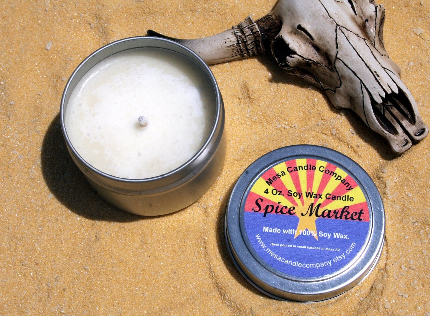 Spice Market Scented Soy Candle 4 Oz.