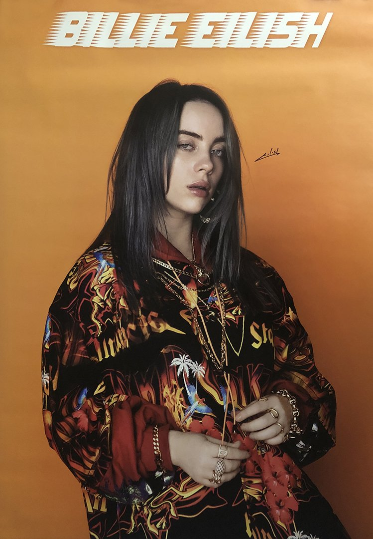 Billie Eilish Signed Poster 24 by 36