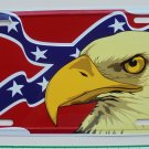 CONFEDERATE FLAG/EAGLE HEAD LICENSE PLATE METAL