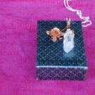 WIRE WRAPPED TIME LINK, KEY QUARTZ CRYSTAL PENDANT W /COPPER ROSE