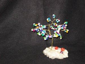 OOAK DYED PEARLS CRYSTAL TREE -  20128868