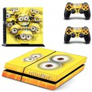 MINIONS PS4 skin Sticker decal made PVC Console and controllers