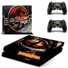 juressic park New Design PS4 Console skin sticker decal made pvc