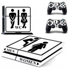 WC design skin for ps4 decal sticker console & controllers