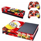 The minions special christmas edition decal for Xbox one skin sticker console & controlle