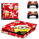 The minions special christmas edition PS4 Console skin sticker decal made pvc