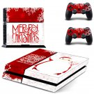 playstation 4 special christmas edition PS4 Console skin sticker decal made pvc