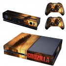 Godzilla decal for Xbox one skin sticker console