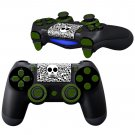 Black White Skulls design PS4 Controller Full Buttons skin