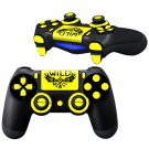 WiLD Yellow design PS4 Controller Full Buttons skin