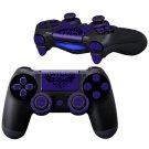 WiLD DarkBlue design PS4 Controller Full Buttons skin