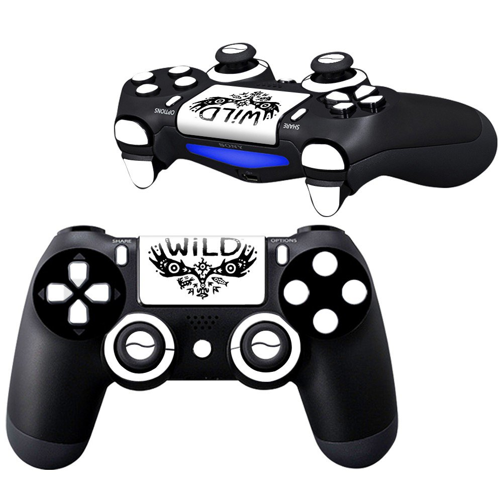 WiLD LiteWhite design PS4 Controller Full Buttons skin