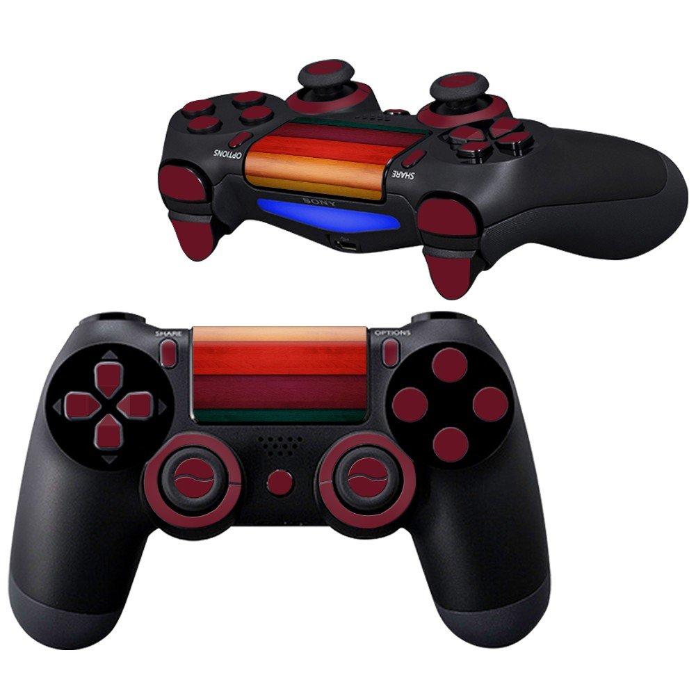 Wood Slide design PS4 Controller Full Buttons skin