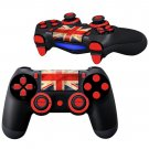 Red UK Flag design PS4 Controller Full Buttons skin