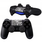 BlackWhite Floral Design PS4 Controller Full Buttons skin
