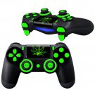 Fire Weed Design PS4 Controller Full Buttons skin
