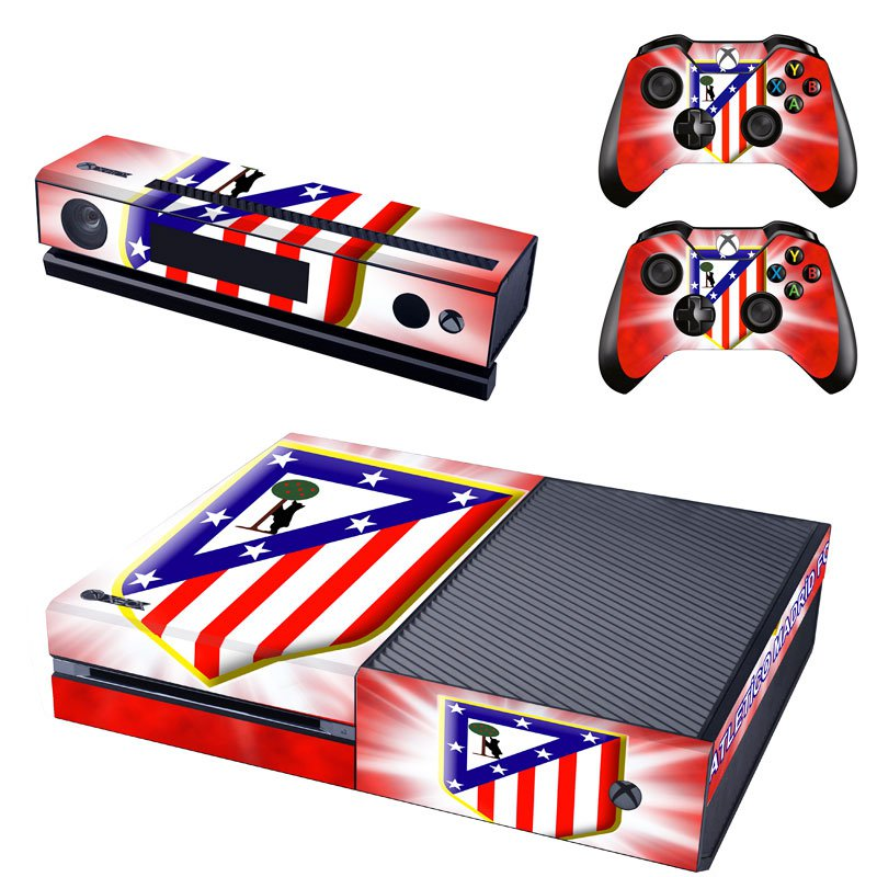 Atletico Madrid design skin for Xbox one decal sticker console