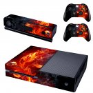 Fire Flowers Plant design skin for Xbox one decal sticker console