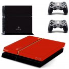 Red Black Design decal for PS4 console skin sticker decal-design