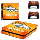 Denver Broncos orange crush design decal for PS4 console skin sticker decal-design