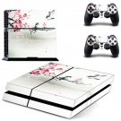 Sparrows on the cherry tree design decal for PS4 console skin sticker decal-design