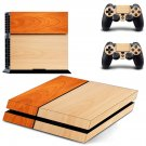 Di Wooden Color design decal for PS4 console skin sticker decal-design